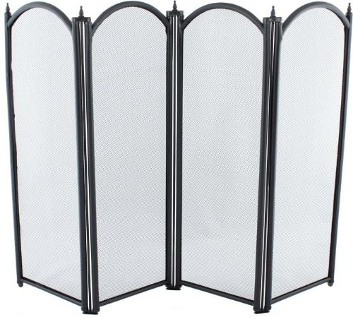 Four Fold Black Fire Guard